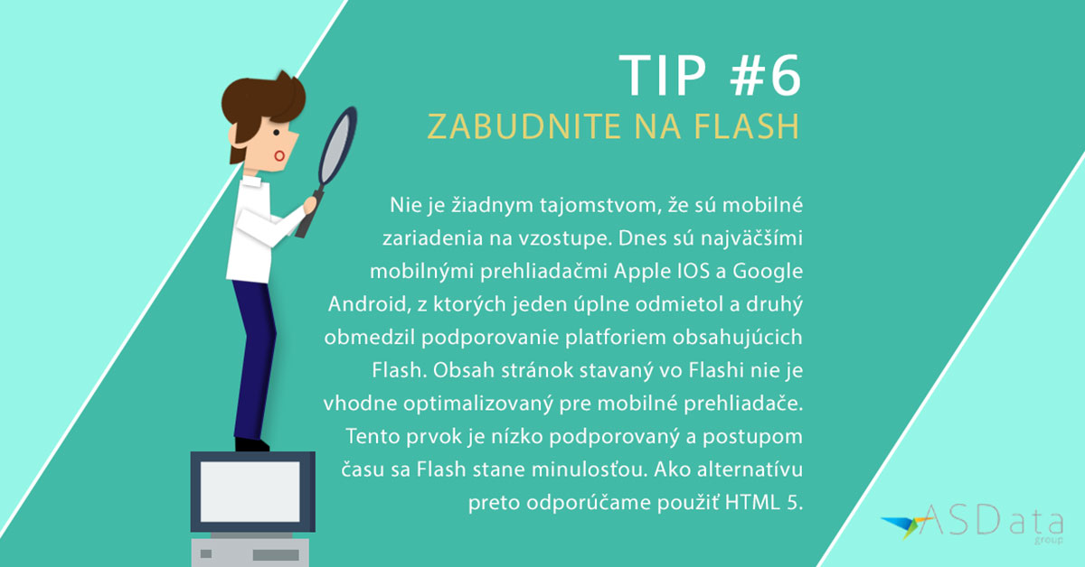 Tip #6 Zabudnite na Flash