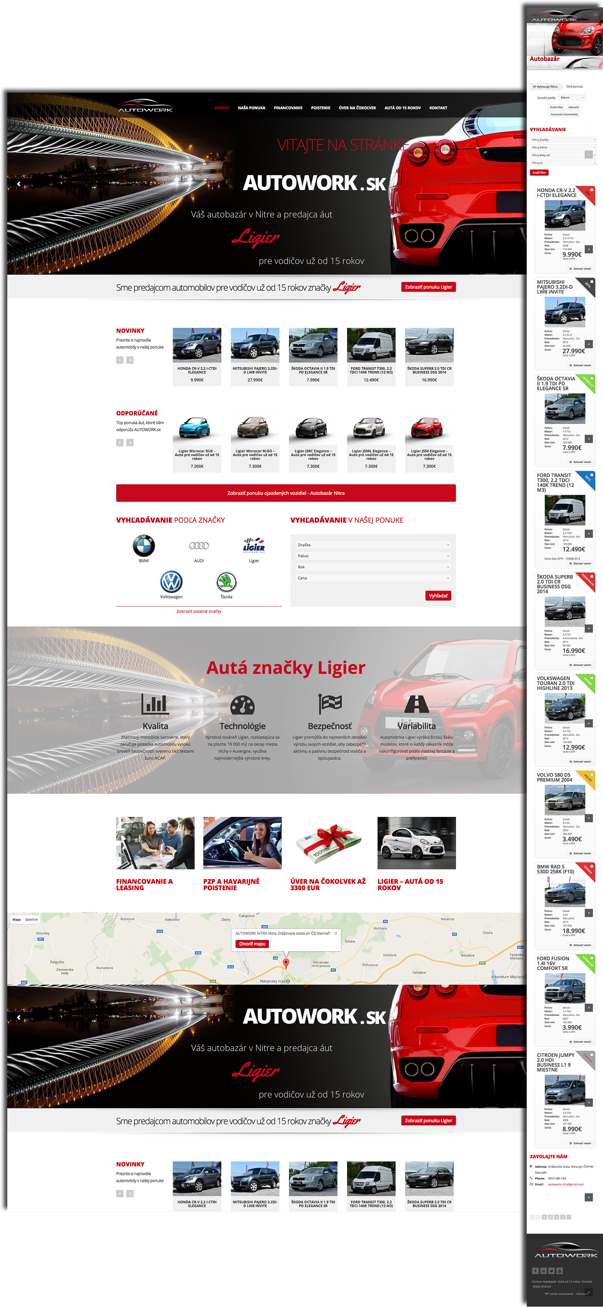 Fully responsive design of websites for mobile devices - Autowork