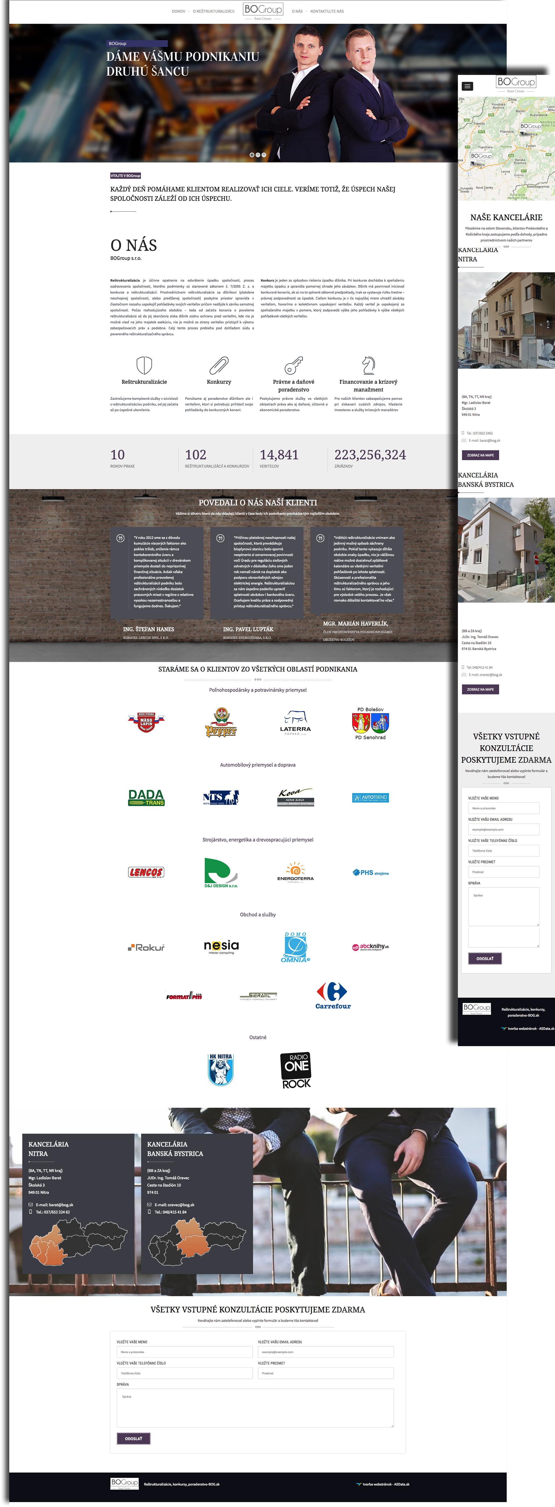 BOGroup - Reštrukturalizační správcovia